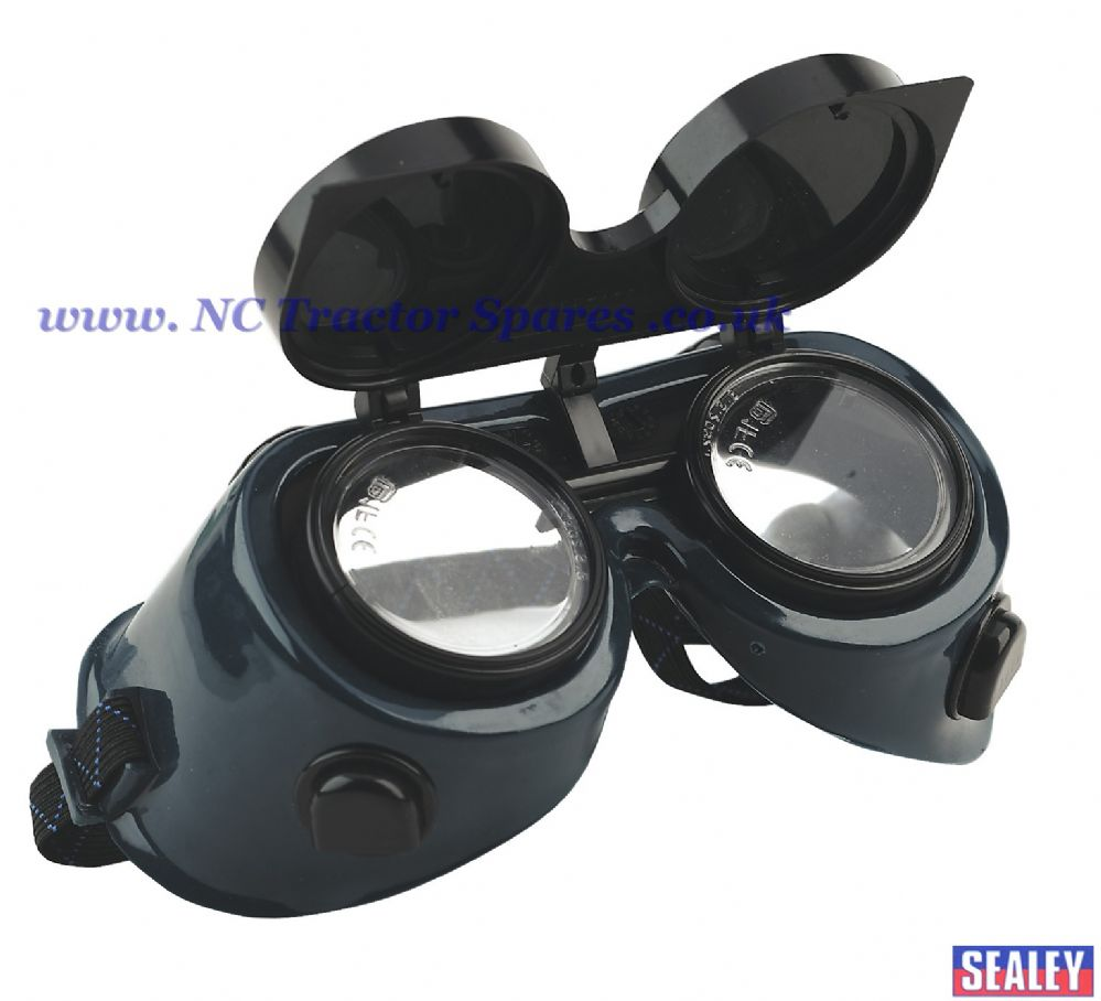 Gas Welding Goggles with Flip-Up Lenses.